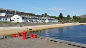 Distilleria di Bunnahabhain Fotografia Stock Libera da Diritti