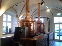 Distilleria di rame della birra fotografie stock libere da diritti
