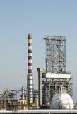 Distilleria e giacimento di gas naturale della benzina Fotografia Stock