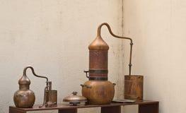 Distillerie de cuivre image stock