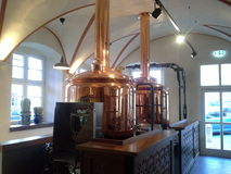 Distillerie de cuivre de bière Photos libres de droits