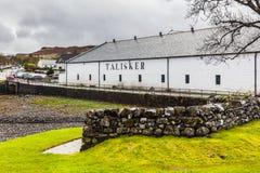 Distillerie de whiskey de Talisker photos stock