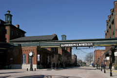 Distillery District - Toronto, Canada. A National Historic Site of Canada, the Distillery District is a mixed use neighbourhood with a focus on historic stock photography