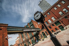 Distillery district - Toronto Canada. The Distillery District is a historic and entertainment precinct located east of Downtown Toronto, Ontario, Canada. It stock photo