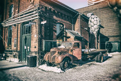 Distillery District Toronto Truck royalty free stock image