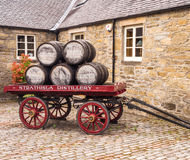 Distillery. June 2016, Kieth, Scotland, UK. The Strathisla whisky disltillery at Keith, Scotland, UK royalty free stock images