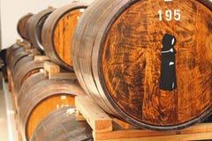 Oak barrels indoor Stock Photography