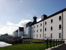 Distillery in Scotland. Islay whisky distillery Laphroaig, Scotland royalty free stock photography