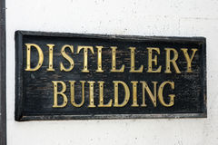 Distillery sign Stock Image