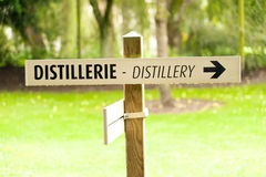 Distillery sign Stock Images