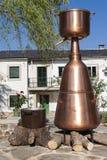 Distillery Still. Big Distillery Still in Portomarin at Camino de Santiago, Spain Stock Photos