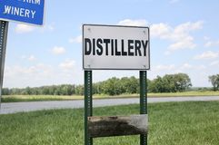 Distillery Store. An establishment for distilling, especially for distilling alcoholic liquors stock photography