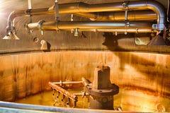 Distillery tanks brewery stock image