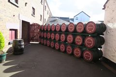 Distillery in the UK. Northern Ireland - typical British whiskey distillery impressions stock images