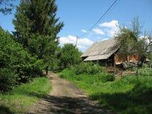Distinctief dorp onder de bergen Stock Afbeeldingen