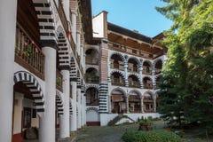 Distinctief woondeel van Rila-Klooster, Bulgarije royalty-vrije stock fotografie