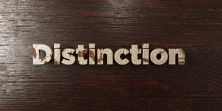 Distinction - grungy wooden headline on Maple  - 3D rendered royalty free stock image Stock Photos