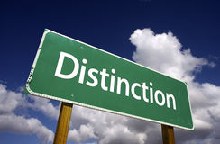 Distinction Road Sign royalty free stock images