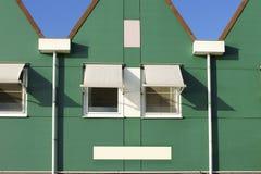 Distinctive Gable. A Dutch house with a triangular gable and and sunscreen on the windows Stock Photography