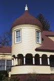 Distinctive oval New England home, near Marblehead, Massachusetts, USA Stock Photo