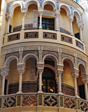 Distinctive Spanish Building. In Seville Spain Stock Image