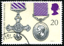 Distinguished Flying Cross and Medal UK Postage Stamp Royalty Free Stock Photography