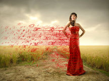 Distinguished lady Royalty Free Stock Images
