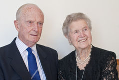 Distinguished old formal couple. Distinguished old  couple close to ninety in formal attire Stock Photography