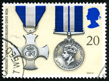 Distinguished Service Cross and Medal UK Postage Stamp Royalty Free Stock Photos