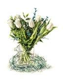 Distinguished tulip arrangement royalty free stock photos