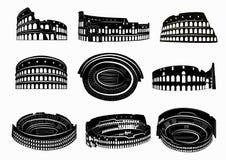 Distintas vistas de Colosseum romano Foto de archivo libre de regalías