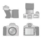 Distintas vistas de la cámara digital Foto de archivo libre de regalías