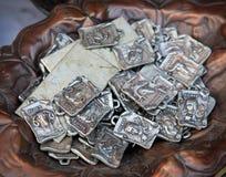 Distintivi astrologici antichi del segno Fotografia Stock Libera da Diritti