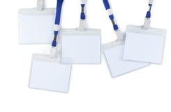 Distintivi in bianco Immagini Stock