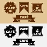 Distintivi d'annata del caffè di vettore Fotografia Stock