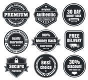 Distintivi d'annata leggeri e scuri di commercio elettronico Fotografia Stock