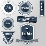 Distintivi da vendere, migliore prezzo, originale, qualità, limitata Fotografie Stock Libere da Diritti