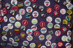 Distintivi del bottone di proteste degli studenti Fotografia Stock Libera da Diritti