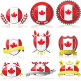 Distintivi del Canada Fotografia Stock Libera da Diritti