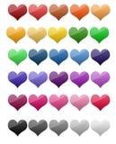 Distintivi del cuore Immagine Stock Libera da Diritti