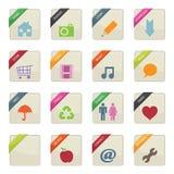 Distintivi del tasto di Web Fotografie Stock