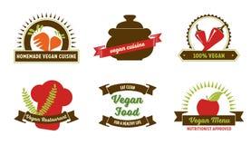 Distintivi del vegano Immagini Stock