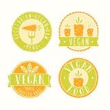 Distintivi dell'alimento del vegano Fotografia Stock