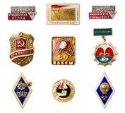 Distintivi dell'URSS Fotografia Stock Libera da Diritti