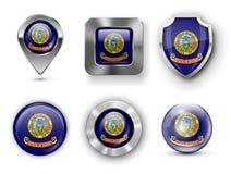 Distintivi della bandiera dello stato di U.S.A. Immagini Stock Libere da Diritti