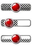 Distintivi della corsa con la gemma rotonda Immagini Stock