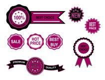 Distintivi di affari, vettore dei contrassegni Immagine Stock