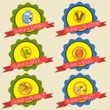 Distintivi di allergia alimentare royalty illustrazione gratis