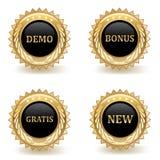 Distintivi di commercio dell'oro Fotografie Stock Libere da Diritti