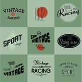 Distintivi di corsa di automobile dell'annata Fotografie Stock Libere da Diritti